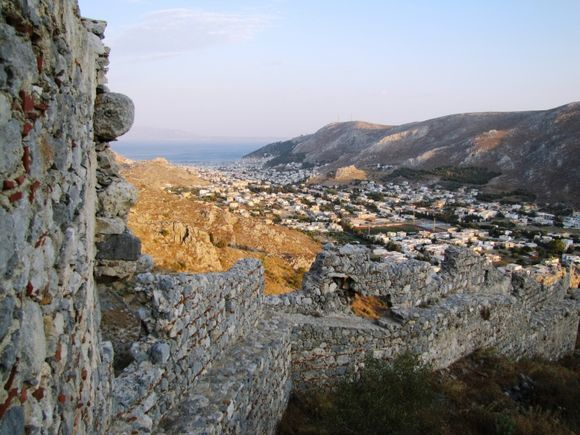 View from the ruins of an ancient fortress at Chora