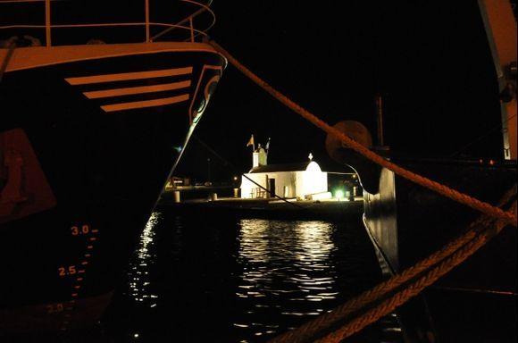Panagia Mirtidiotissa by night