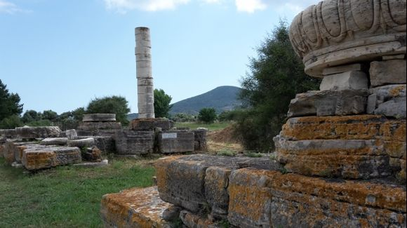 Ireon, the last column of the Hera's temple. Magnificent archaeological site