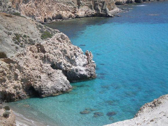 Tsigrado beach in Milos