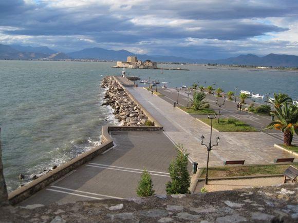 Storm clouds over Nafplio harbor