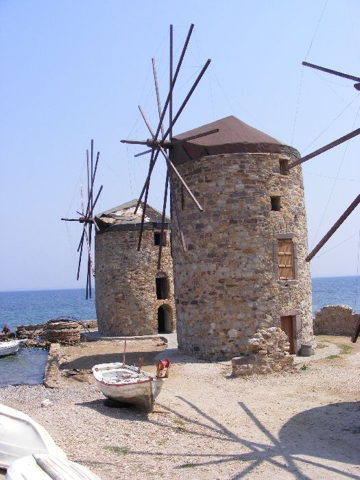 The old Windmills in Chios City