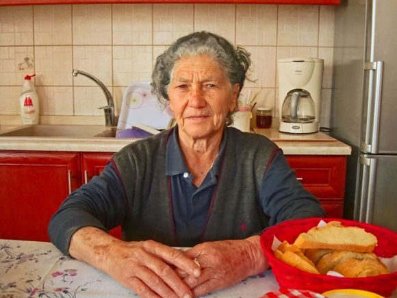 This wonderful lady, Aristea, deserves to be named Hostess of the Year for her hospitality and warmth.  She owns a lovely hotel in Anogia in the the mountains of Crete.