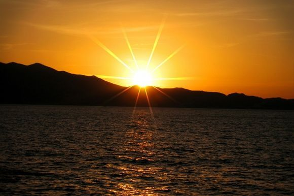 Golden Moment at Heraklion Harbour