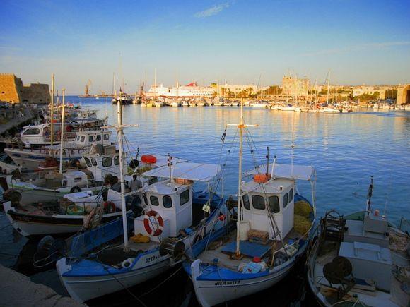 Evening at Heraklion Harbour