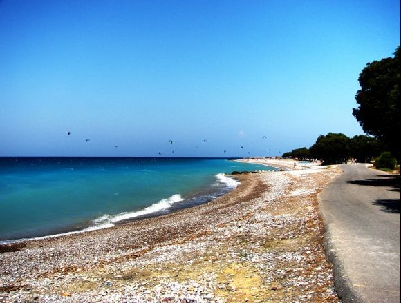 Beach on the Western shore of Rhodes