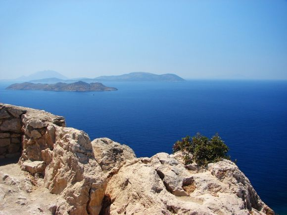 View to Chalki and other small islands from Kritinia Castle