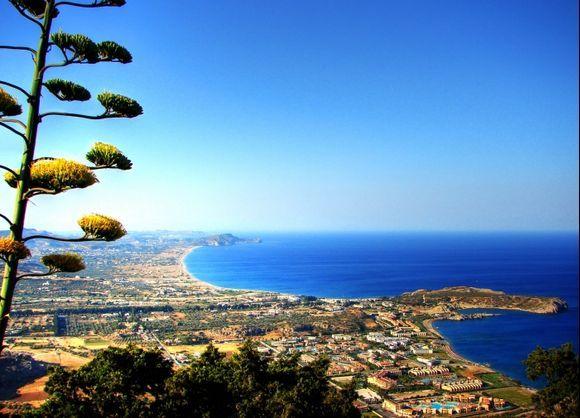Looking toward North Rhodes from Panagia Tsampika