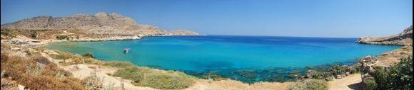 Full panorama of Agathi beach
