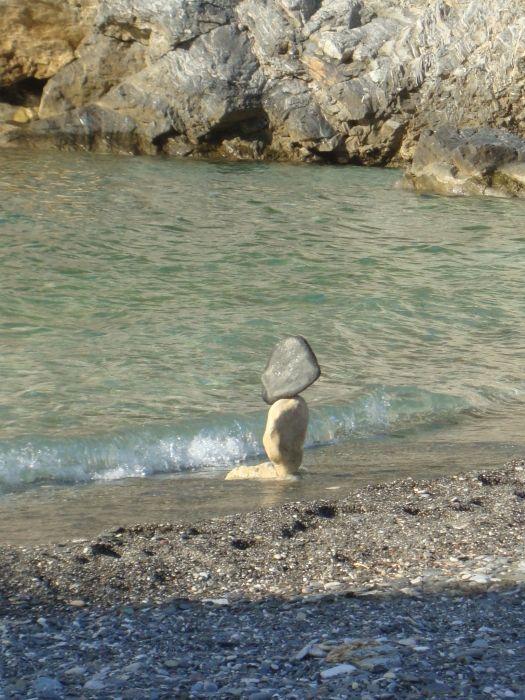 Stone sculpture at Ghialia Beach