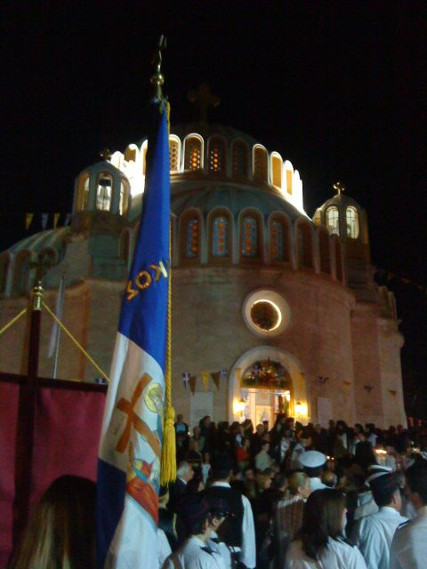 In Glyfada,St.Constantine church. On the name day of St.Constantine and Elleni.