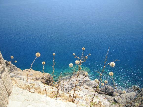 Lindos acropolis.wonderful color of the sea.
