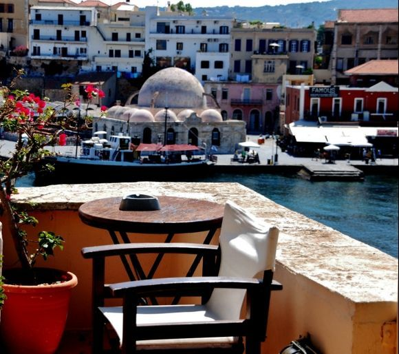 Chania..Vew from the roofgarden