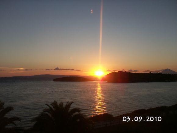 Beautiful sunrise over Mount Athos