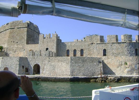 Bourtzi from the boat
