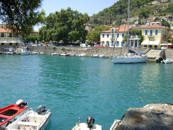 View of the beautiful port of Nafpaktos, one of the most picturesque spots in Greece