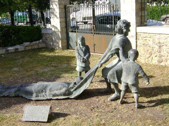 Statue outside the school