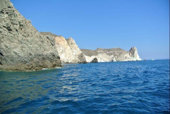 Rocks between Black Beach and White Beach