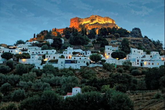 Lights of Lindos in the end of October