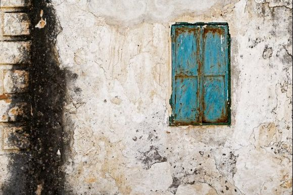 Old wall in Lachania