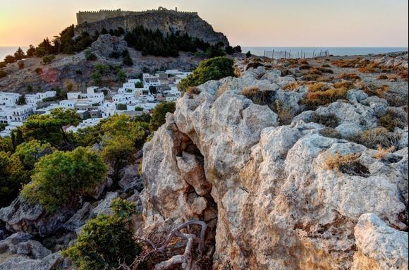 Acropolis of Lindos from KRANA