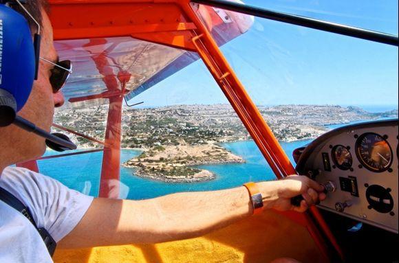 A flight with Nikos in Pefkos