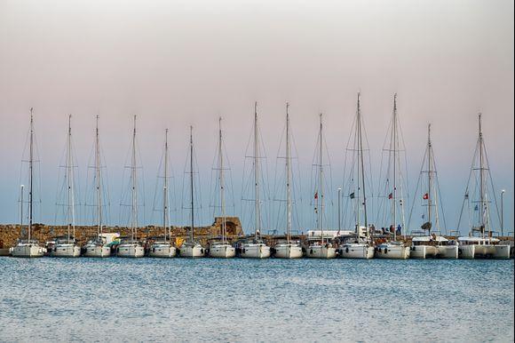 The port of Mandraki, before sunset.