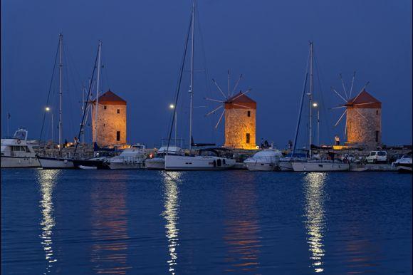 An evening , in Rhodes