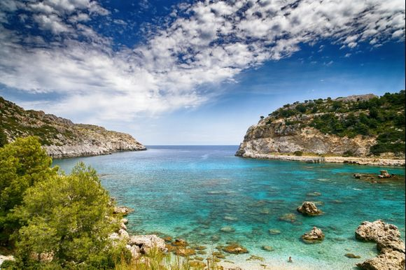 One of the marvellous beaches of Rhodes