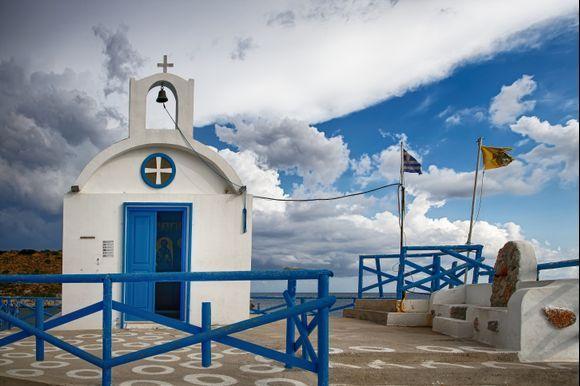 Agios Nikoalaos, after the storm.