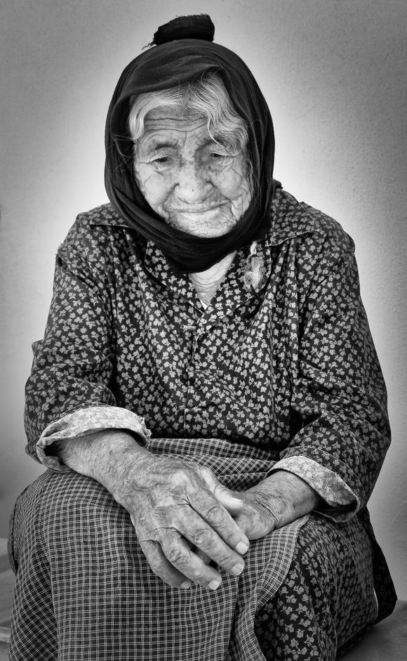 A lovely woman in a pleasant village