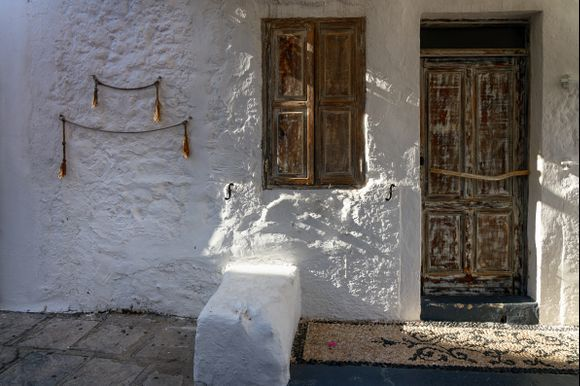 In the streets of Lindos