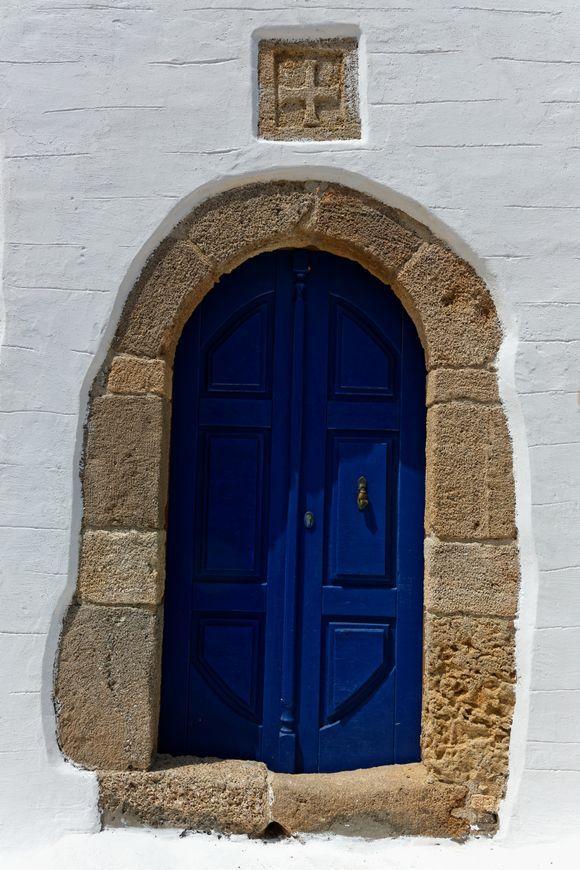 The blue door !