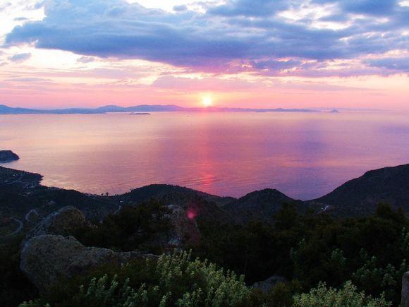 Sunrise from Mount Oros