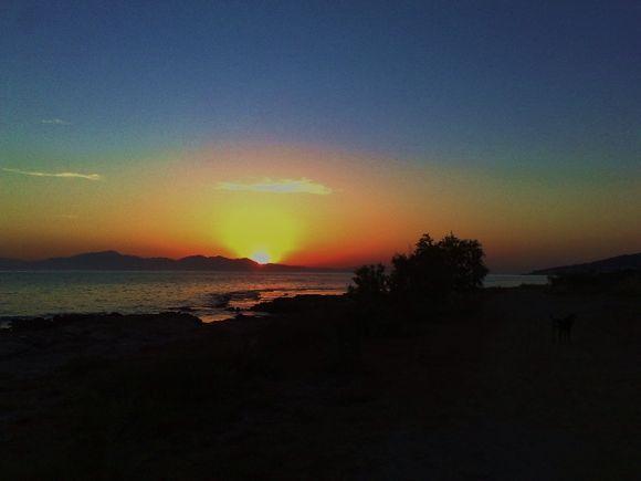 Sunrise at Agious beach.