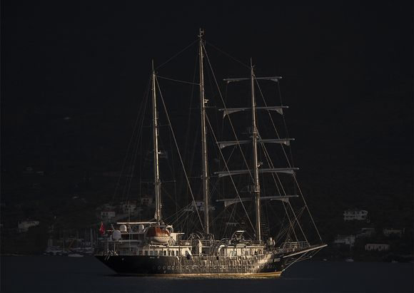 Over the final 5 days of our stay on Poros this luxury three-masted four-deck barque
