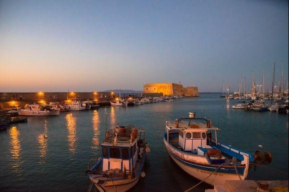The port of Heraklion Crete