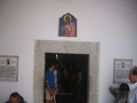 Entrance to the cave where St. John wrote the revelations