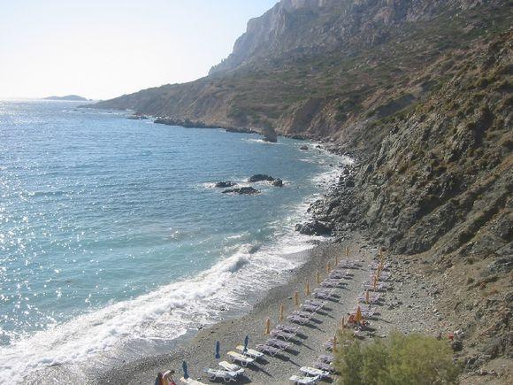 Beach on islet of Telendos