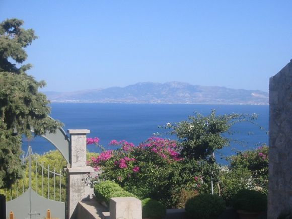 Looking out from Agios Savvas