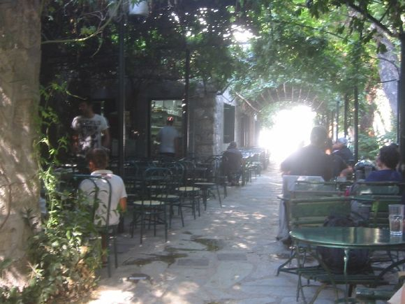 The little cafe at the central park in Athens. Cool and relaxing.