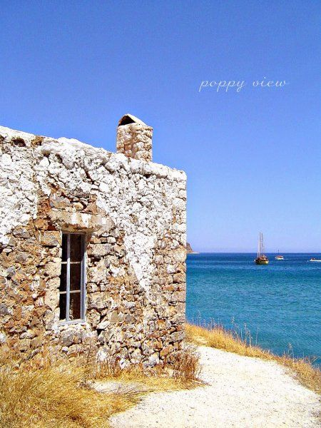A dilapidated cafe, Plaka, Crete