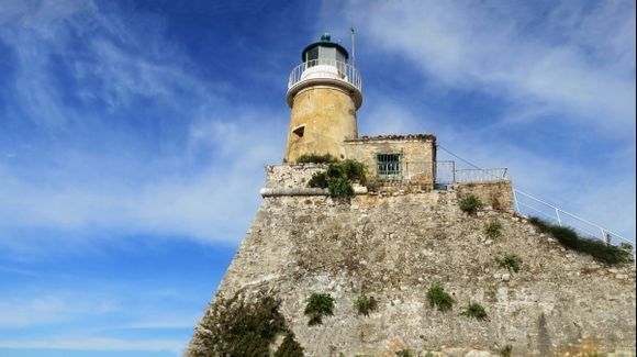 Lighthouse at Old Fortress of Corfu Town