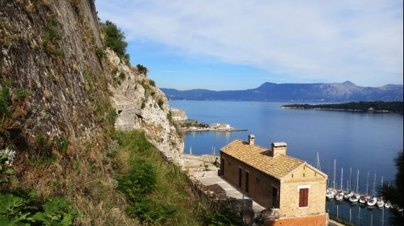View from the Old fortress of Corfu Town