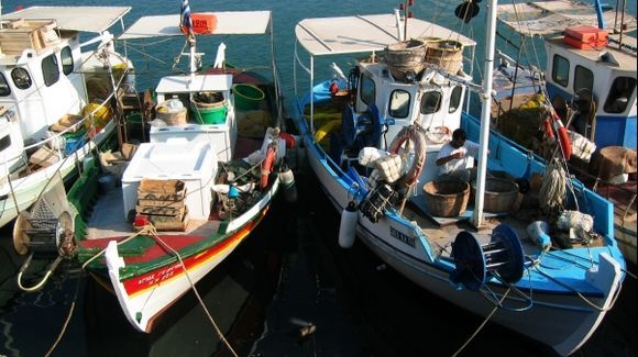 Fishing boats in the Venetian harbour of Heraklion