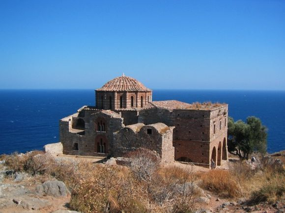 The Church of Agia Sofia in Monemvasia